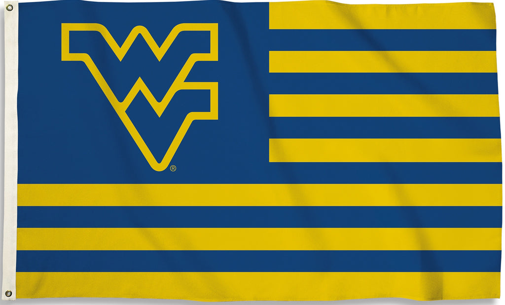 West Virginia Mountaineers 3' x 5' Flag (Stripes) NCAA