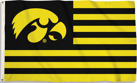 Iowa Hawkeyes 3' x 5' Flag (Stripes) NCAA