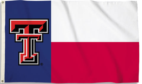 Texas Tech Red Raiders 3' x 5' Flag (State Of Texas) NCAA