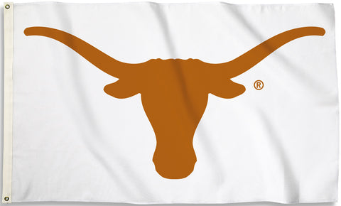 Texas Longhorns 3' x 5' Flag (Logo Only on White) NCAA
