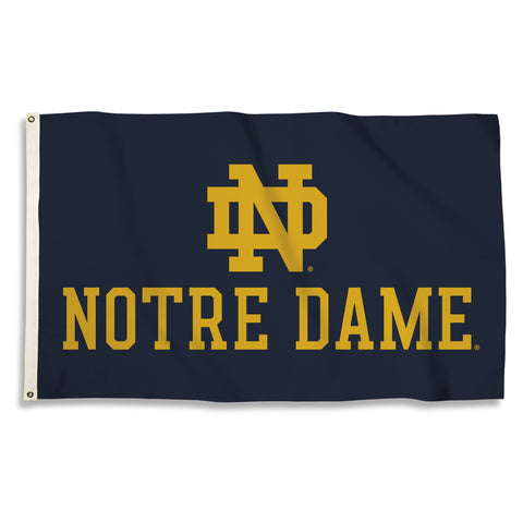 "Notre Dame Fighting Irish 3' x 5' Flag (""ND"" Logo with Wordmark) NCAA"