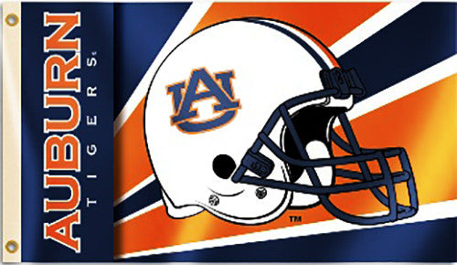 Auburn Tigers 3' x 5' Flag (Football Helmet) NCAA