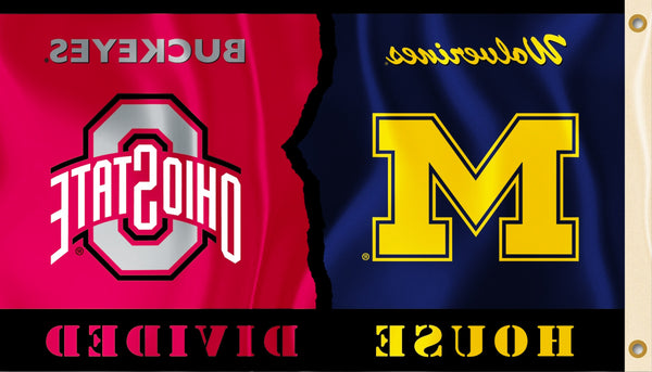 Michigan Wolverines Ohio State Buckeyes 3 X 5 House Divided Flag Fanaticsworldwide