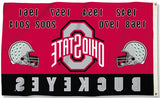 Ohio State Buckeyes 3' x 5' Flag (Football Championship Years) NCAA