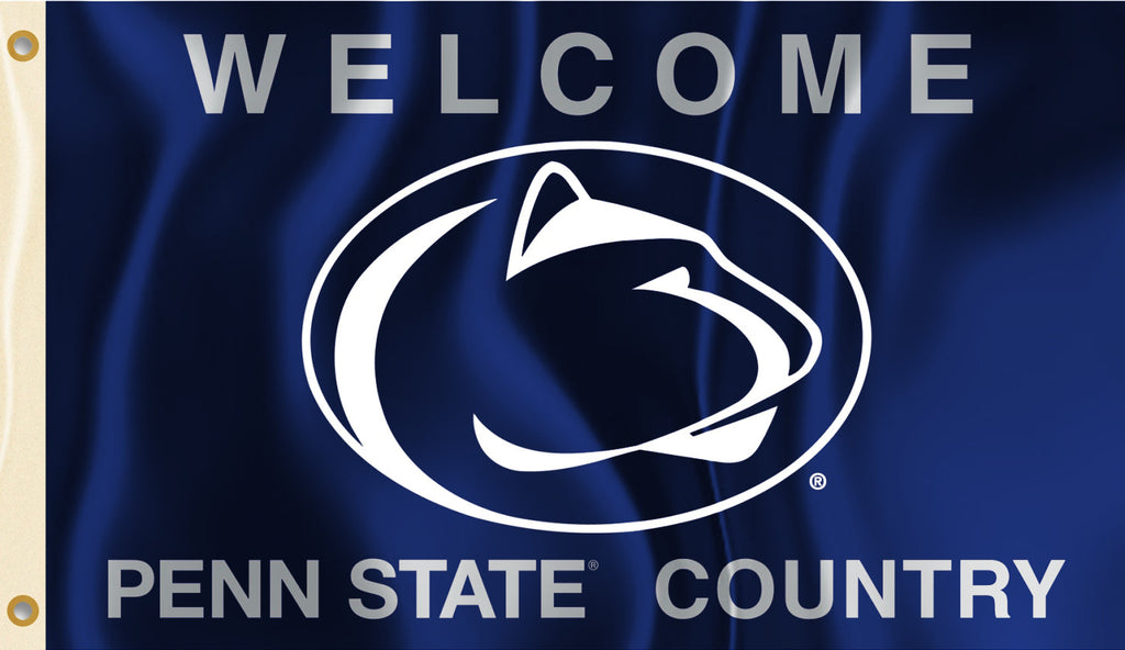 Penn State Nittany Lions 3' x 5' Flag (Welcome Penn State Country) NCAA