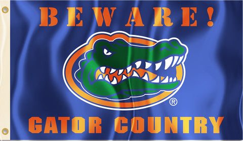 Florida Gators 3' x 5' Flag (Beware Gator Country) NCAA
