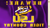 LSU Tigers 3' x 5' Flag (Beware Tiger Country) NCAA