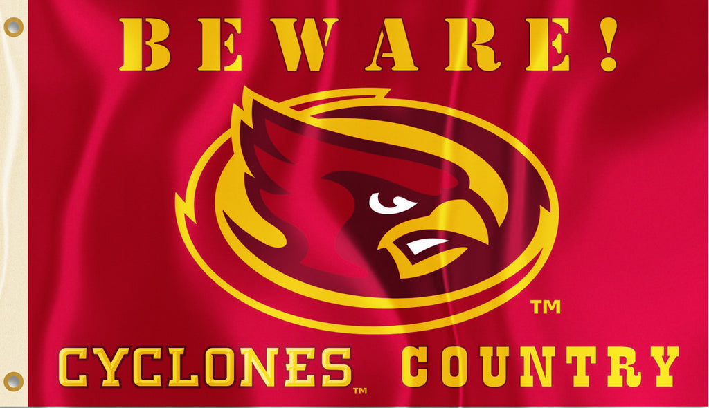 Iowa State Cyclones 3' x 5' (Beware Cyclones Country) NCAA