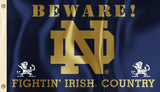 Notre Dame Fighting Irish 3' x 5' Flag (Beware Fightin' Irish Country) NCAA
