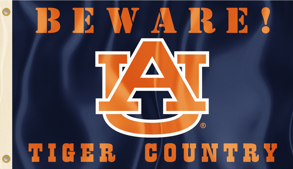 Auburn Tigers 3' x 5' Flag (Beware Tiger Country) NCAA