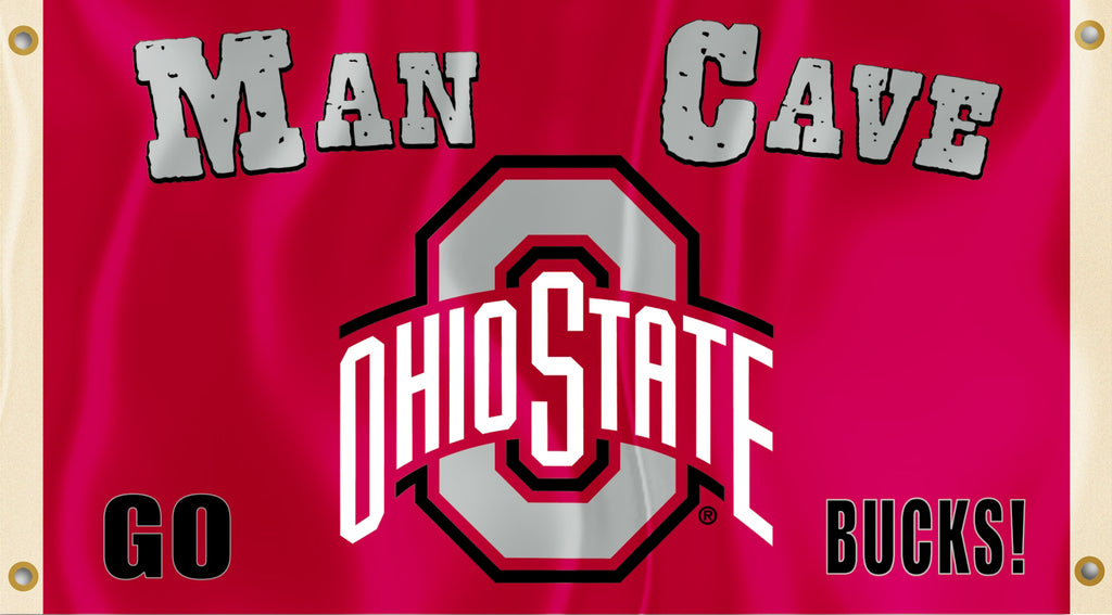 Ohio State Buckeyes 3' x 5' Flag (Man Cave) NCAA