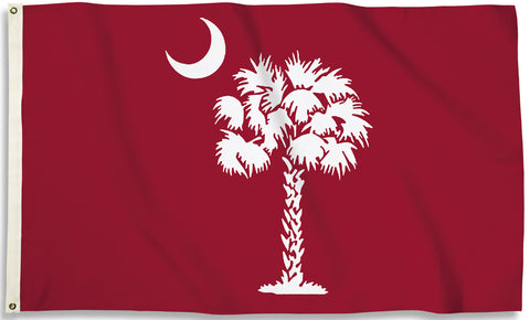 South Carolina Gamecocks 3' x 5' Flag (Palmetto on Garnet) NCAA