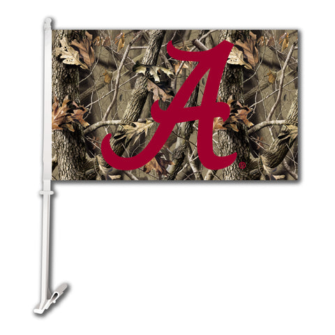 "Alabama Crimson Tide 11"" x 18"" Two-Sided Car Flag (Realtree Camo) NCAA"