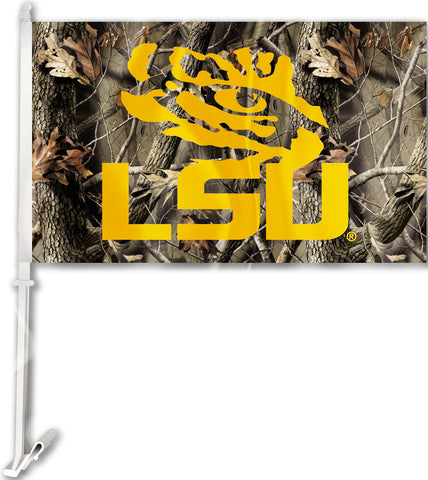 "LSU Tigers 11"" x 18"" Two-Sided Car Flag (Realtree Camo) NCAA"
