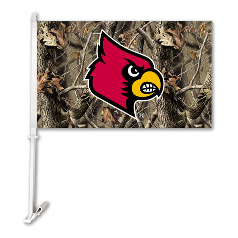 "Louisville Cardinals 11"" x 18"" Two Sided Car Flag (Realtree Camo) NCAA"
