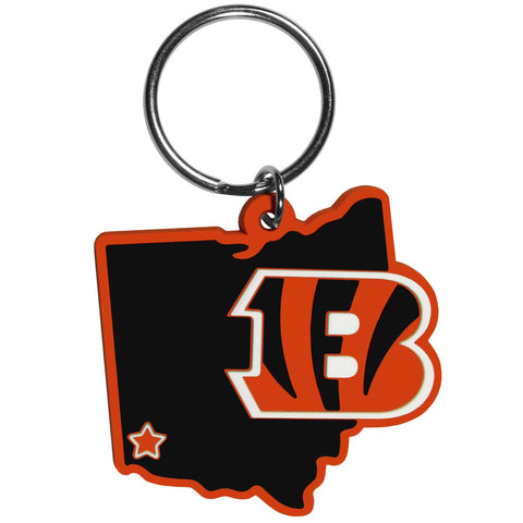 Cincinnati Bengals Home State Flexi Key Chain NFL