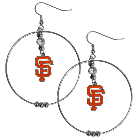 San Francisco Giants 2 inch Hoop Earrings MLB Licensed Baseball Jewelry