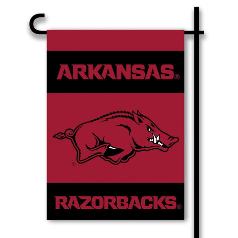 "Arkansas Razorbacks 13"" x 18"" Two Sided Garden Flag NCAA (#83342)"
