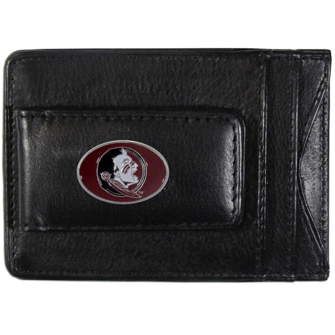 Florida State Seminoles Fine Leather Money Clip (NCAA) Card & Cash Holder