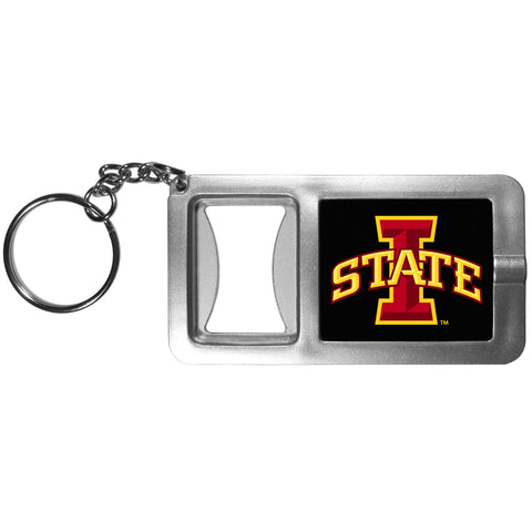 Iowa State Cyclones Flashlight Key Chain with Bottle Opener NCAA