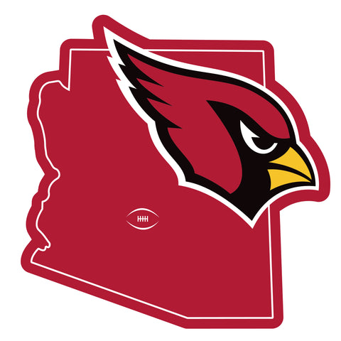 Arizona Cardinals Home State Magnet (NFL) Arizona Shape