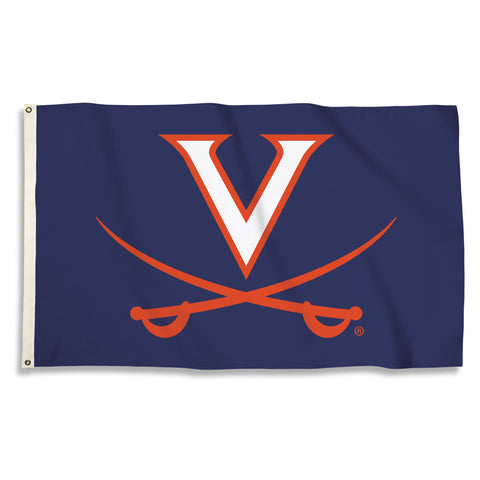 Virginia Cavaliers 3' x 5' Flag (Logo Only on Blue) NCAA