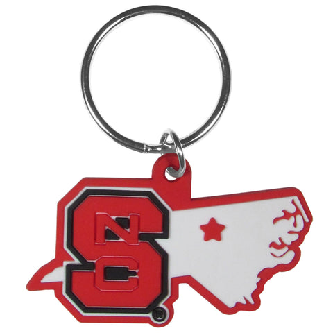North Carolina State Wolfpack Home State Flexi Key Chain NCAA