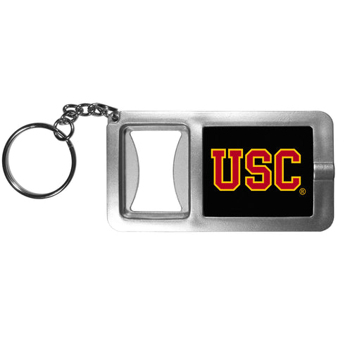 USC Trojans Flashlight Key Chain with Bottle Opener NCAA