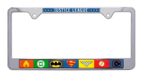 Justice League Metal License Plate Frame Batman Superman Wonder Woman DC Comics