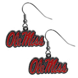 Ole Miss Rebels Dangle Earrings (Chrome) NCAA