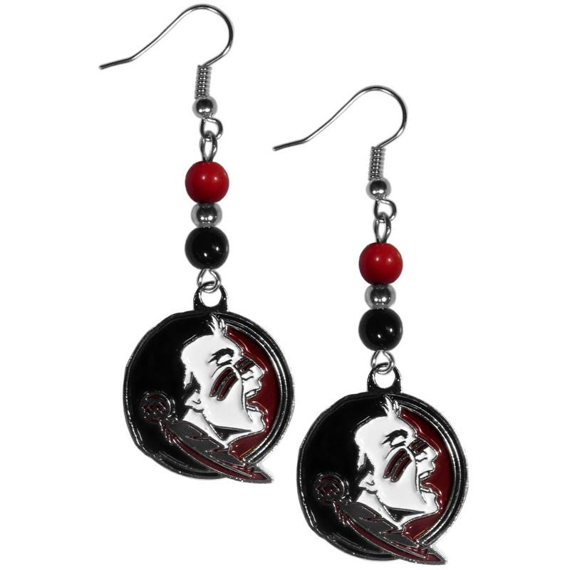 florida state seminoles fan bead dangle earrings ncaa licensed jewelry fanaticsworldwide. Black Bedroom Furniture Sets. Home Design Ideas