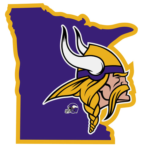 Minnesota Vikings Home State Vinyl Auto Decal (NFL) Minnesota Shape