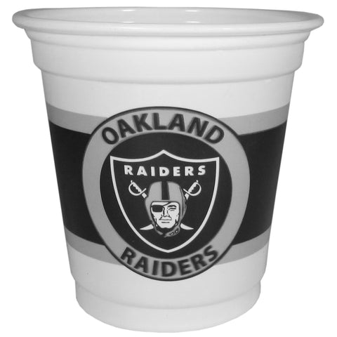 Oakland Raiders 18 count 3 oz Mini Disposable Plastic Cups (NFL)