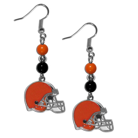 Cleveland Browns Dangle Earrings (Fan Bead) NFL
