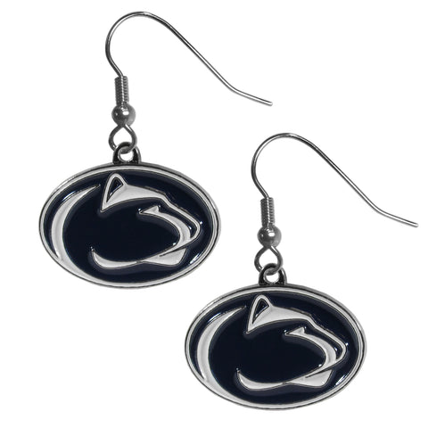 Penn State Nittany Lions Dangle Earrings (Chrome) NCAA Jewelry