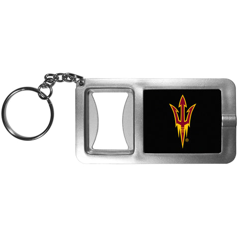 Arizona State Sun Devils Flashlight Key Chain with Bottle Opener NCAA