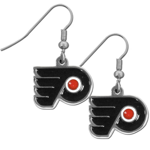 Philadelphia Flyers Dangle Earrings (Chrome) NHL Hockey