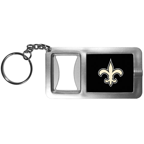 New Orleans Saints Flashlight Key Chain with Bottle Opener NFL Football