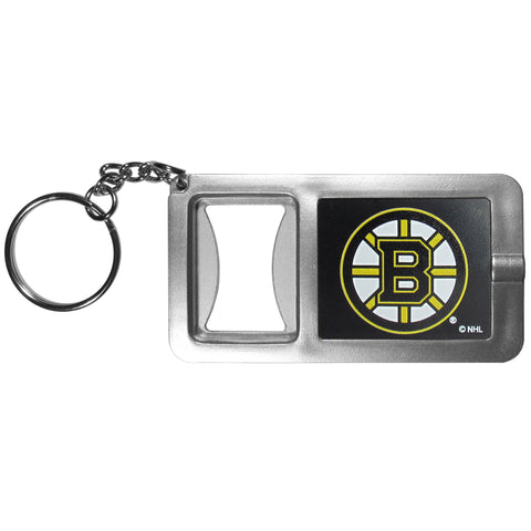 Boston Bruins Flashlight Key Chain with Bottle Opener NHL