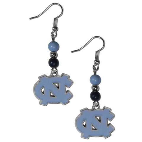 North Carolina Tar Heels Dangle Earrings (Fan Bead) NCAA