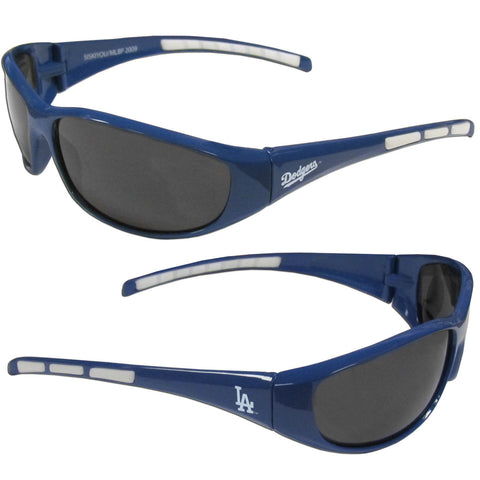 Los Angeles Dodgers Wrap Sunglasses with Hard Shell Case (MLB)