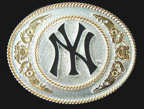 New York Yankees Large Two Toned Metal Belt Buckle (MLB)