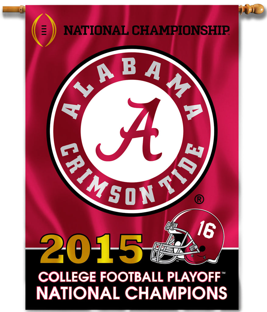 "Alabama Crimson Tide 28"" x 40"" Two Sided House Banner (2015 National Champions) NCAA"