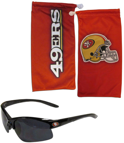 San Francisco 49ers Blade Sunglasses with Microfiber Bag (NFL)