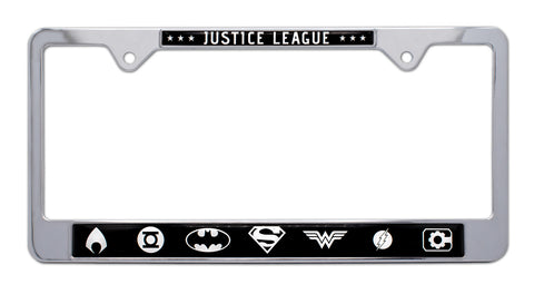 Justice League Metal License Tag Frame Batman Superman Wonder Woman DC Comics