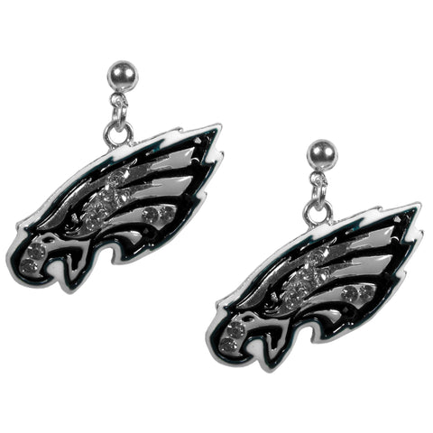 Philadelphia Eagles Crystal Stud Earrings NFL Football