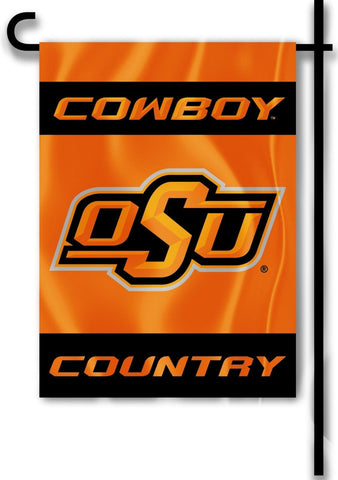 "Oklahoma State Cowboys 13"" x 18"" Two Sided Garden Flag (Cowboy Country) NCAA"