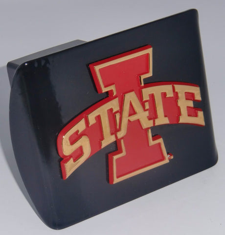 Iowa State Cyclones Chrome Metal Black Hitch Cover (Red & Gold I-State) NCAA