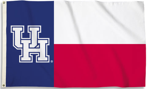 Houston Cougars 3' x 5' Flag (State Of Texas) NCAA