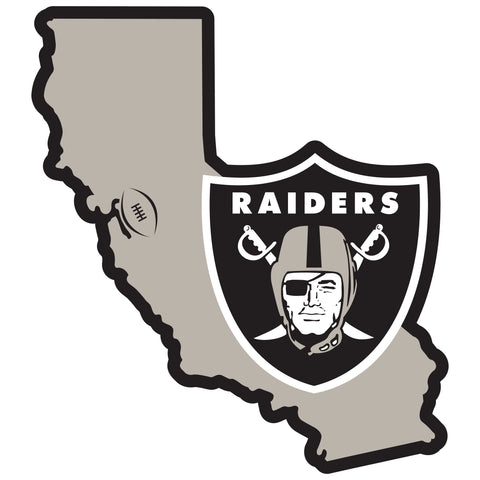 Oakland Raiders Home State Magnet (NFL) California Shape